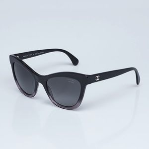 Chanel Black 5350 Cat Eye Sunglasses EUC